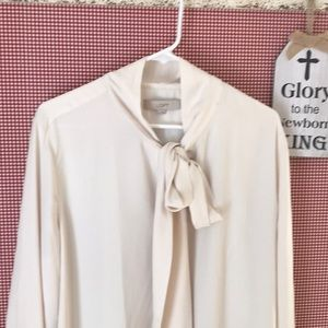 Gorgeous cream, tie neck tunic/dress.